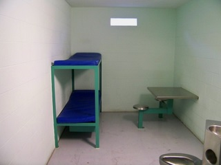 Bunk beds in cell block